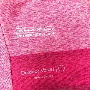 Outdoor Voices Tops - Outdoor Voices Venus Crop Top - Rose/Clay/Flamingo